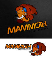 Mammoth Voice Servers Mascot n Logo by dRoop