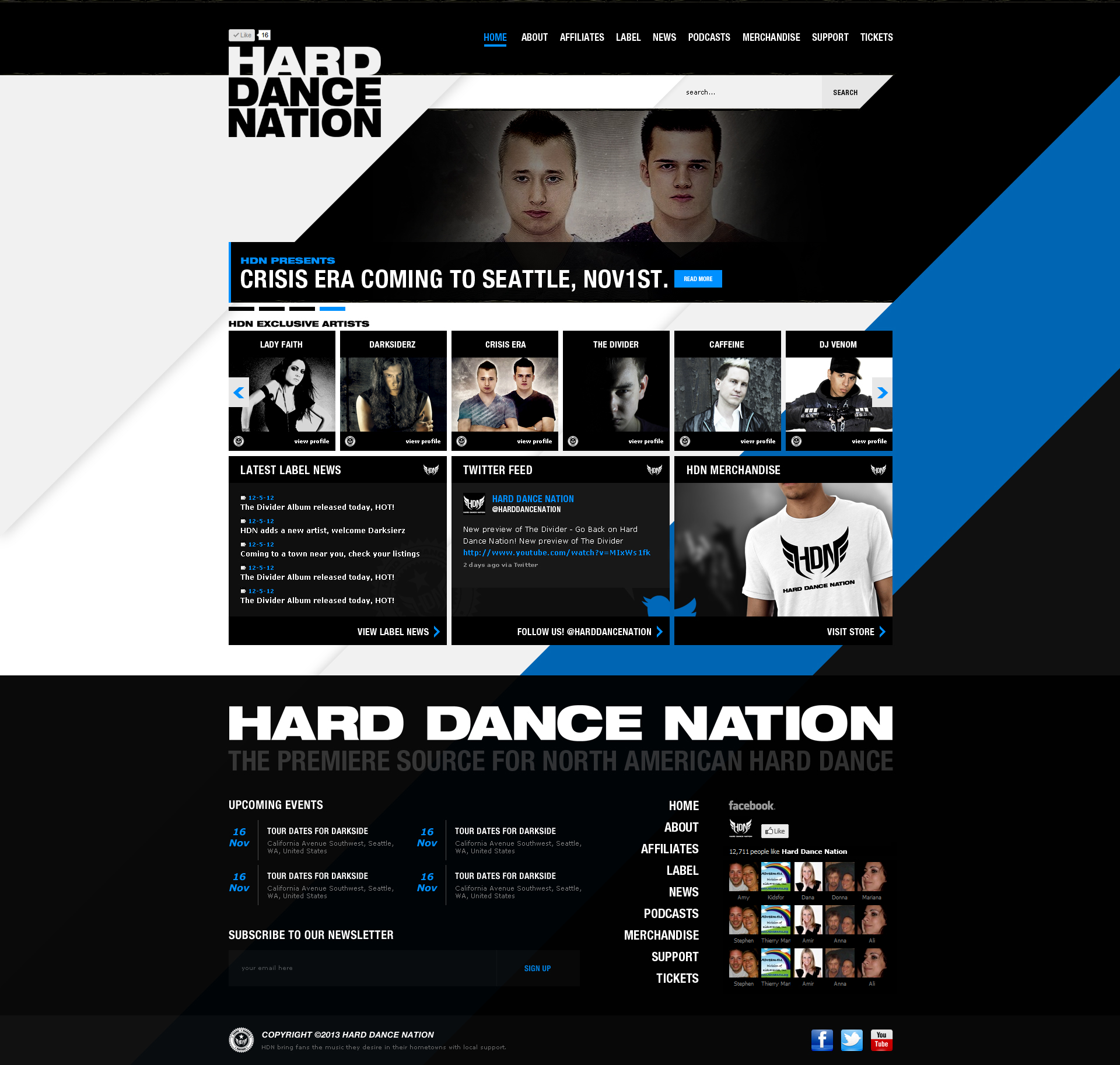 Hard Dance Nation Web Design by dRoop