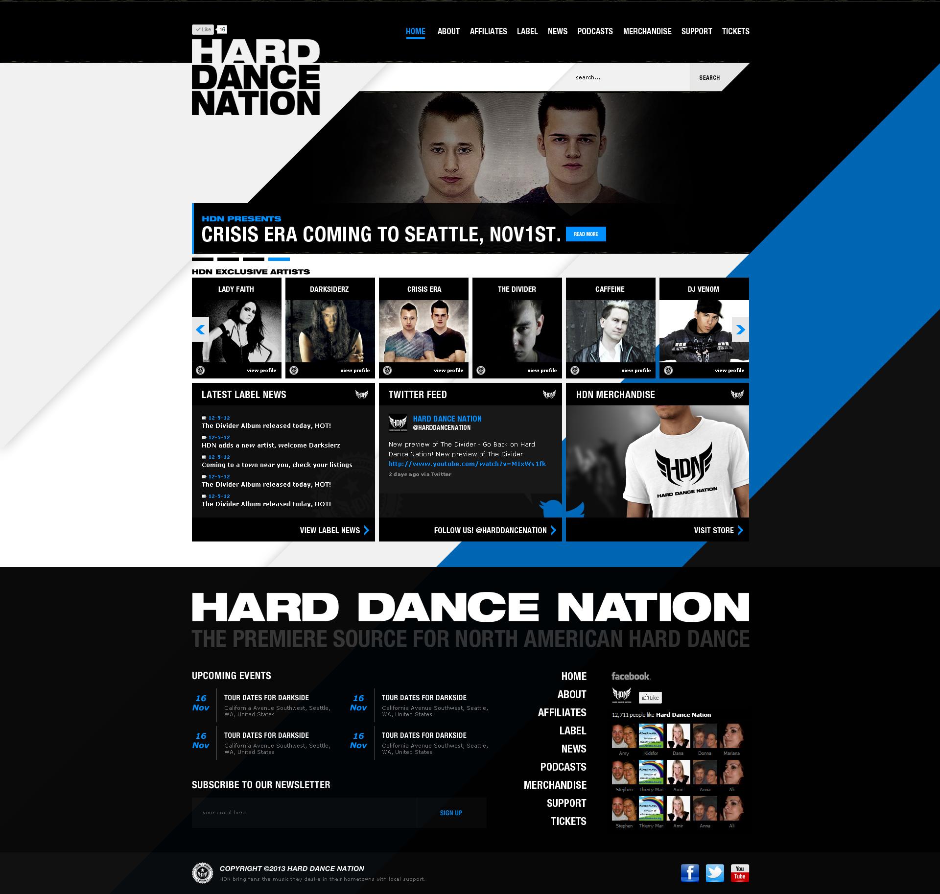 Hard Dance Nation Web Design by dRoop