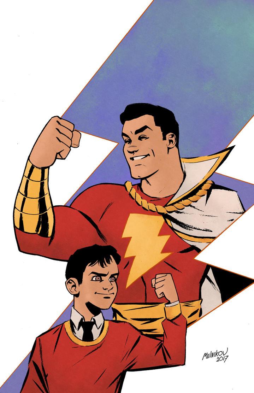 Captain Marvel and Billy Batson by GlebTheZombie