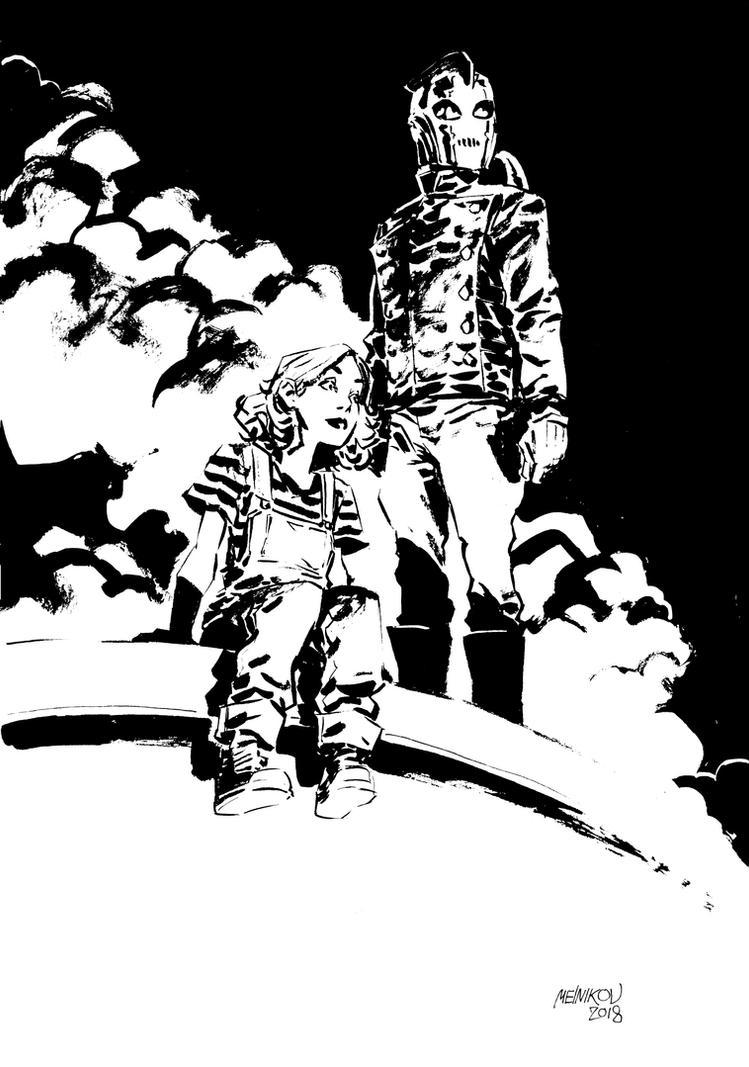Rocketeer Inks by GlebTheZombie