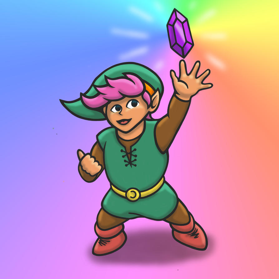 Link and a Purdy Purple Rupee by likelikes