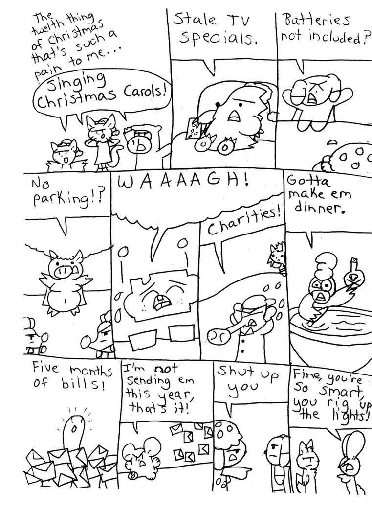 The Twelve Pains Of Christmas.The 12 Pains Of Christmas 12 By Pachiboo On Deviantart