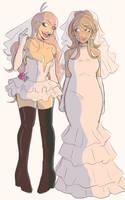 unfortunate wedding dress choices by sodqpop