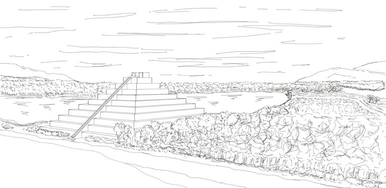 temple sketch by Stinkehund