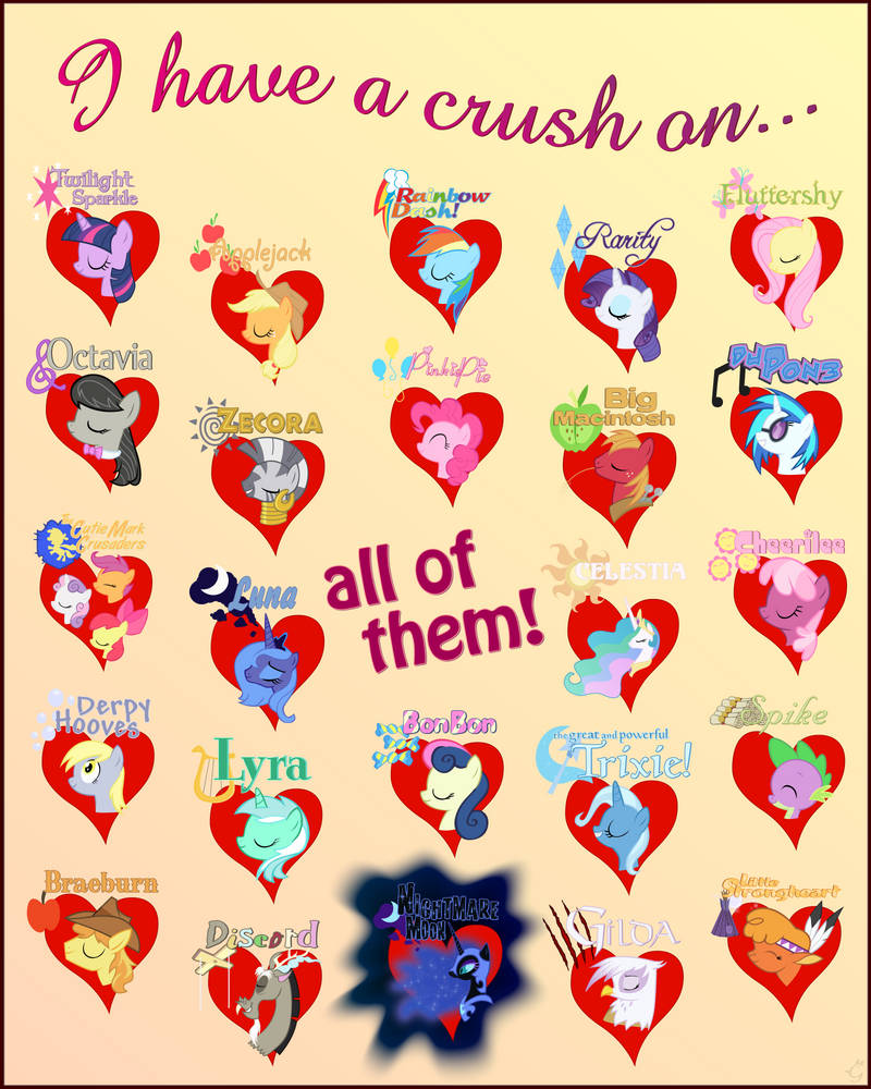 I have a crush on everypony 3