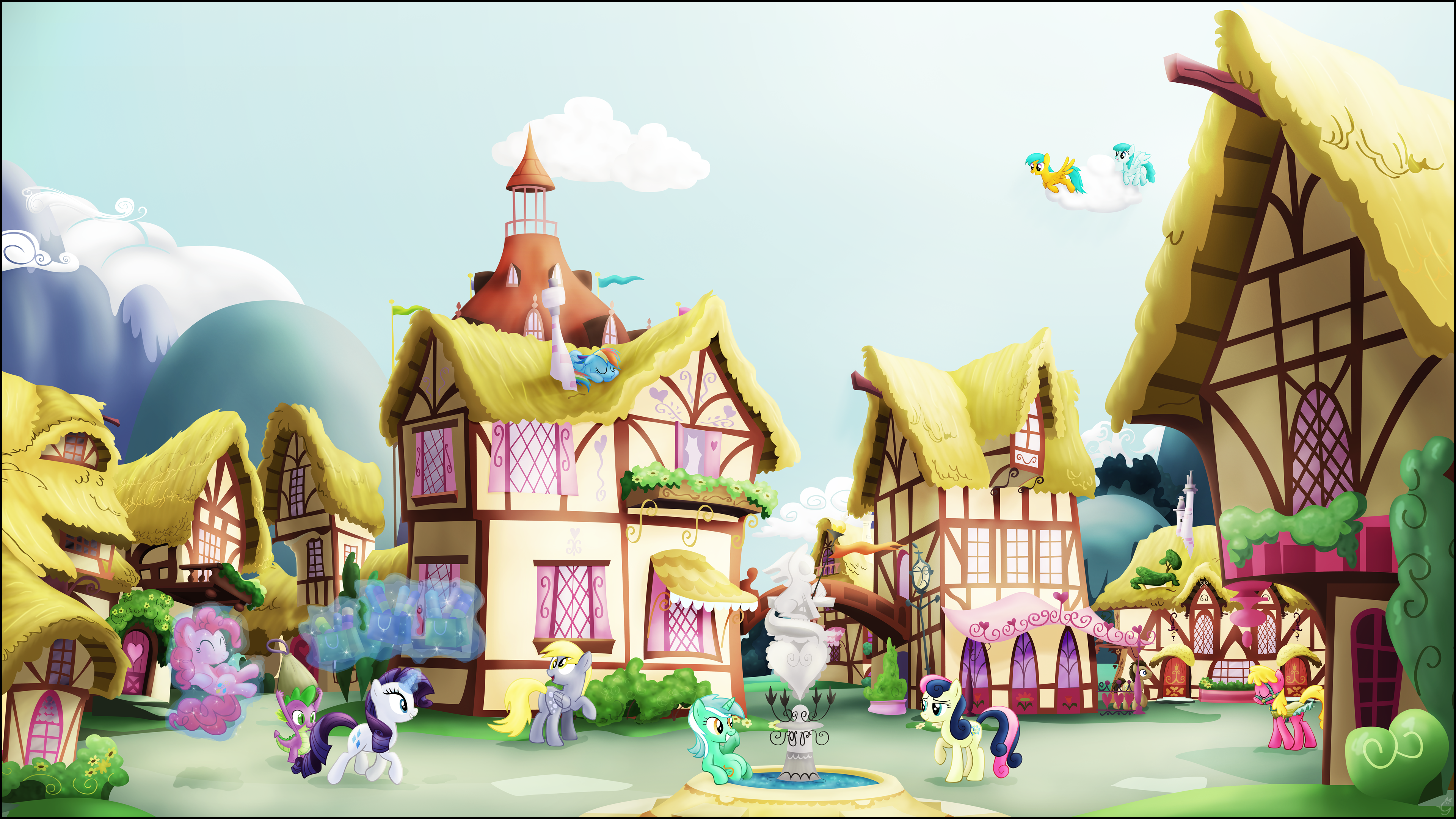 A Ponyville Noon by Stinkehund