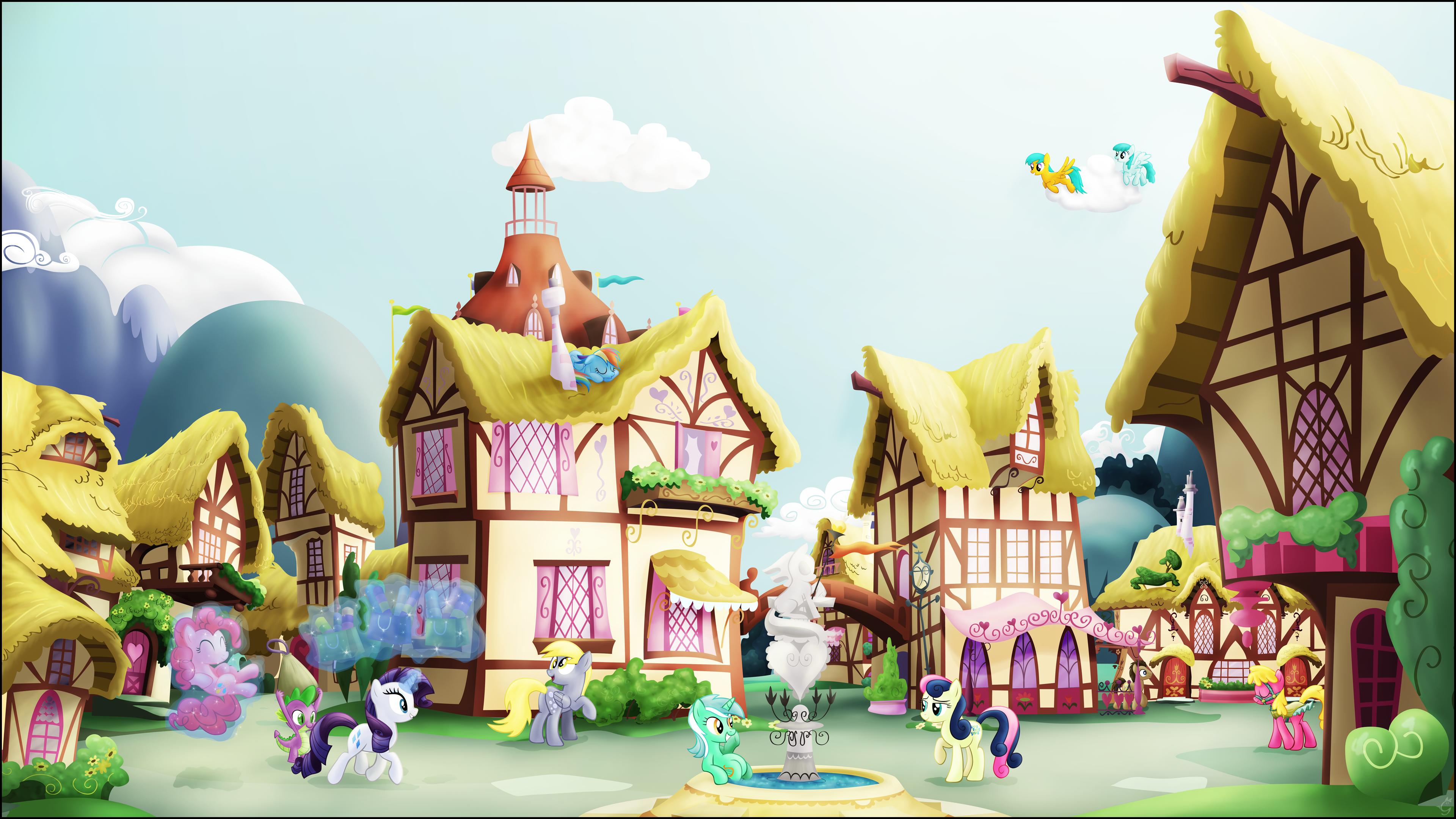 A Ponyville Noon by Stinkehund