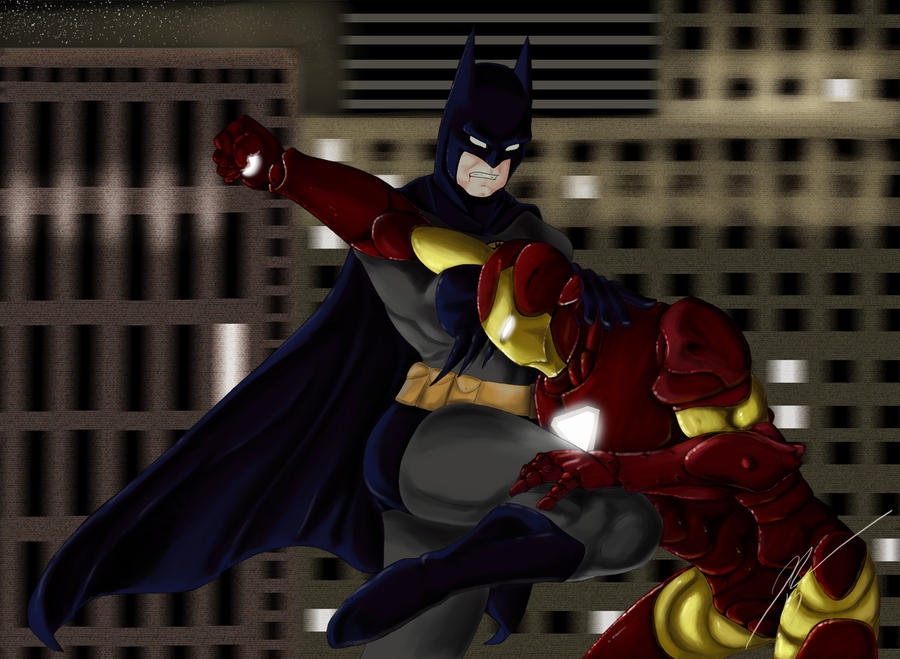 Batman vs Ironman by Drachorn on DeviantArt