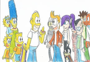 The Simpsons meets Futurama: The Super Crossovers! by FTFTheAdvanceToonist