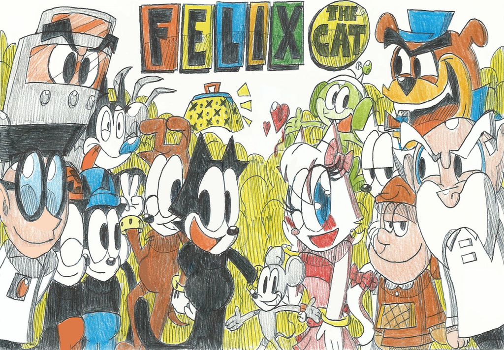 felix the cat and friendsremake drawings by