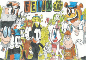 Felix The Cat And Friends(Remake Drawings!!) by FTFTheAdvanceToonist