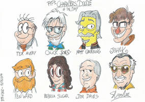 Characters' Doodle of the Day - 08/10/2014 by FTFTheAdvanceToonist