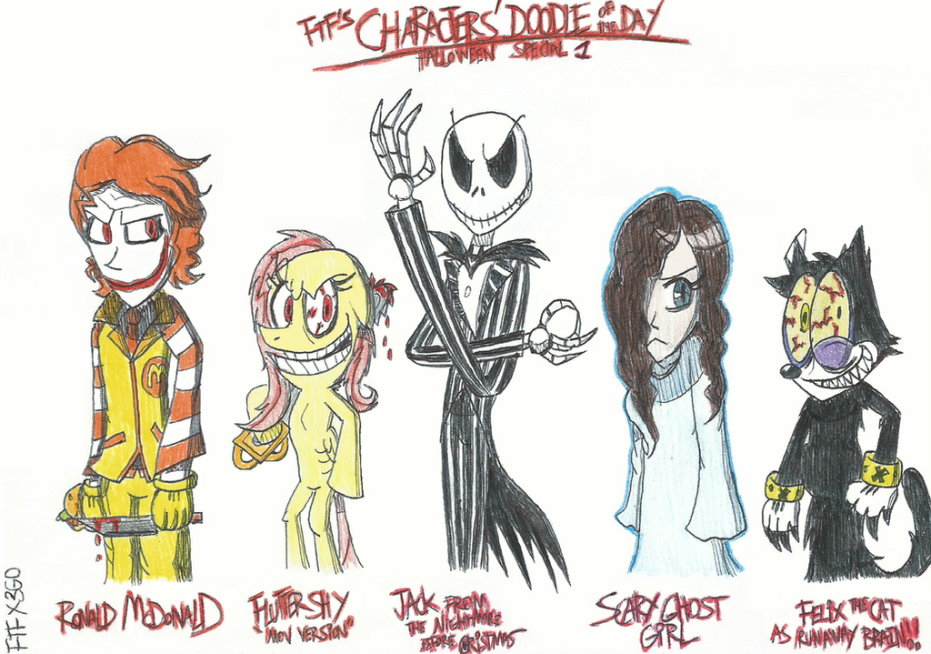 Characters 39 doodle of the day halloween special 1 by for Doodle characters