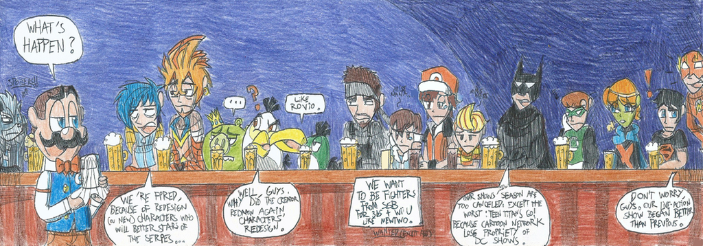 Forgetten or old Characters in Root Beer Tapper by FelixToonimeFanX360