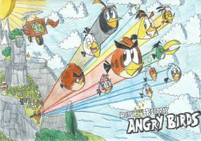 Happy 5th Birdday Angry Birds!! by FTFTheAdvanceToonist