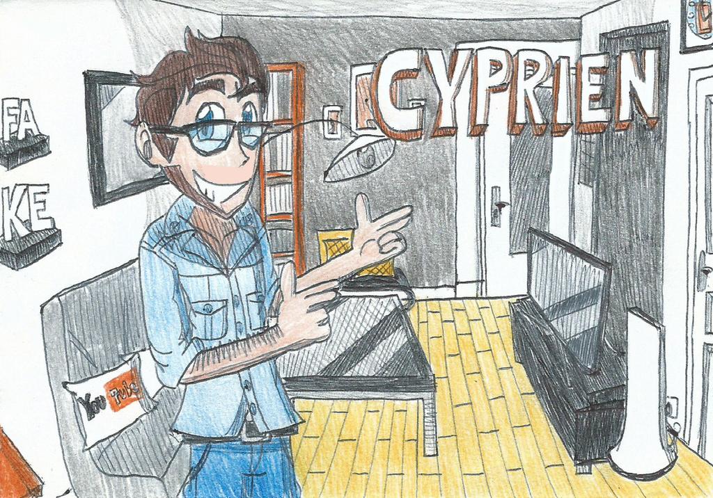 Cyprien the famous french youtuber by ftftheadvancetoonist on deviantart - Dessin de cyprien ...