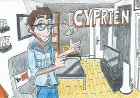 Cyprien, the Famous French YouTuber by FTFTheAdvanceToonist