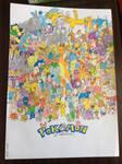 Pokemon 20th Anniversary - Drawing (Live version)