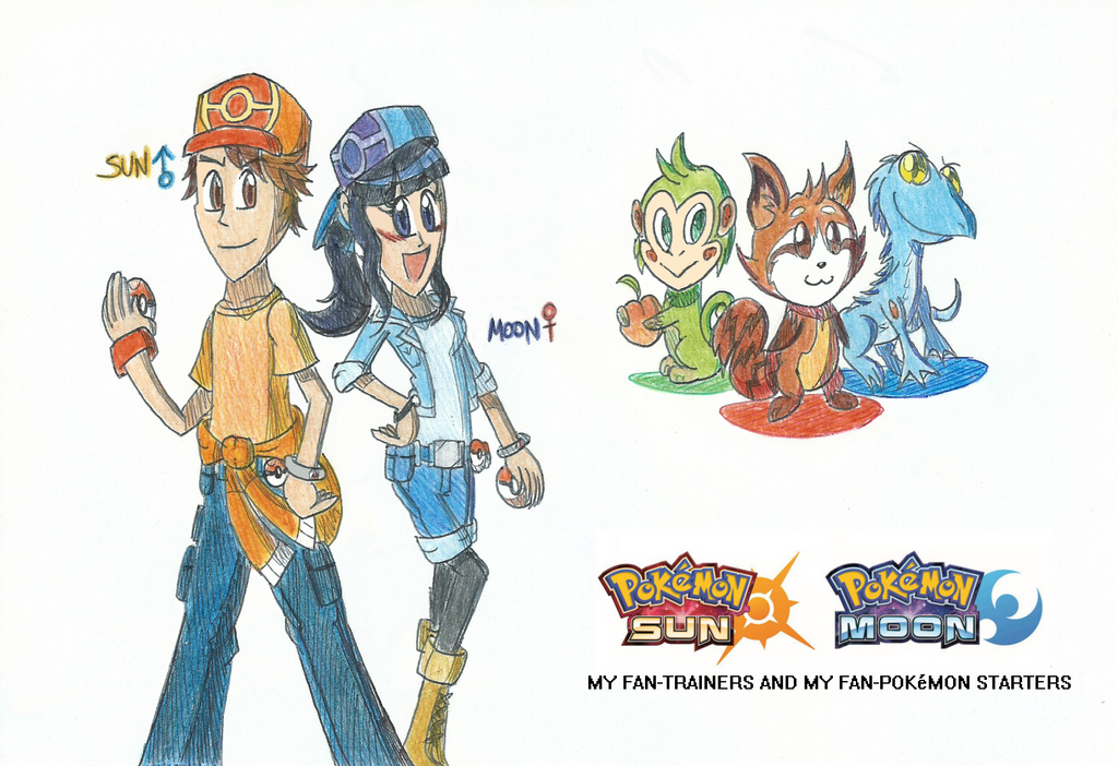 Pokemon Sun N Moon My Trainer Ocs Fan Starters By