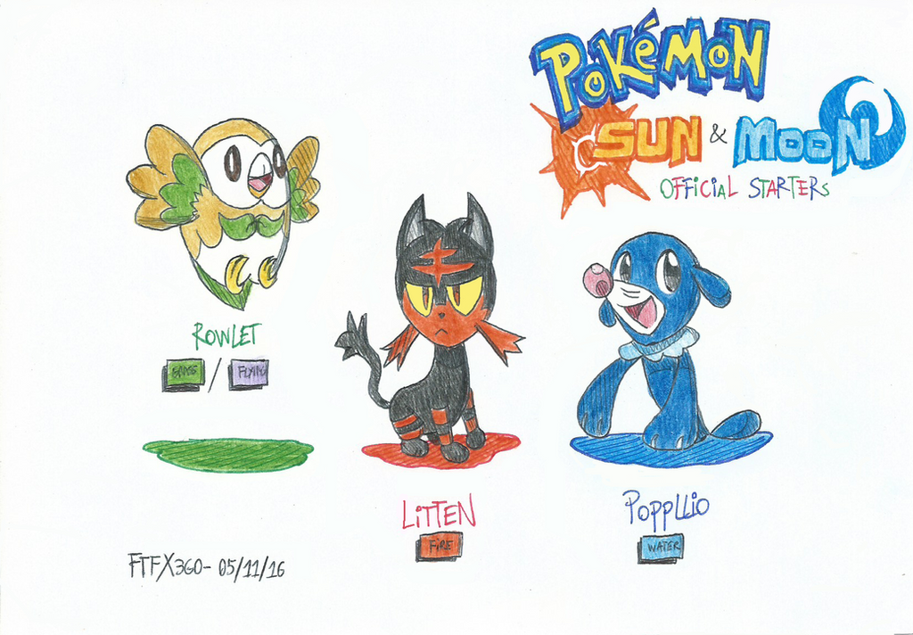 Pokemon Sun And Moon S Official Starters 608779859