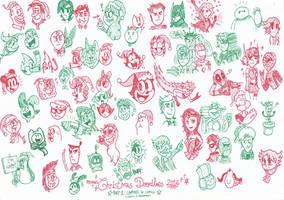 Christmas Doodles 2016 - Part 1: Cartoons n Comics by FTFTheAdvanceToonist
