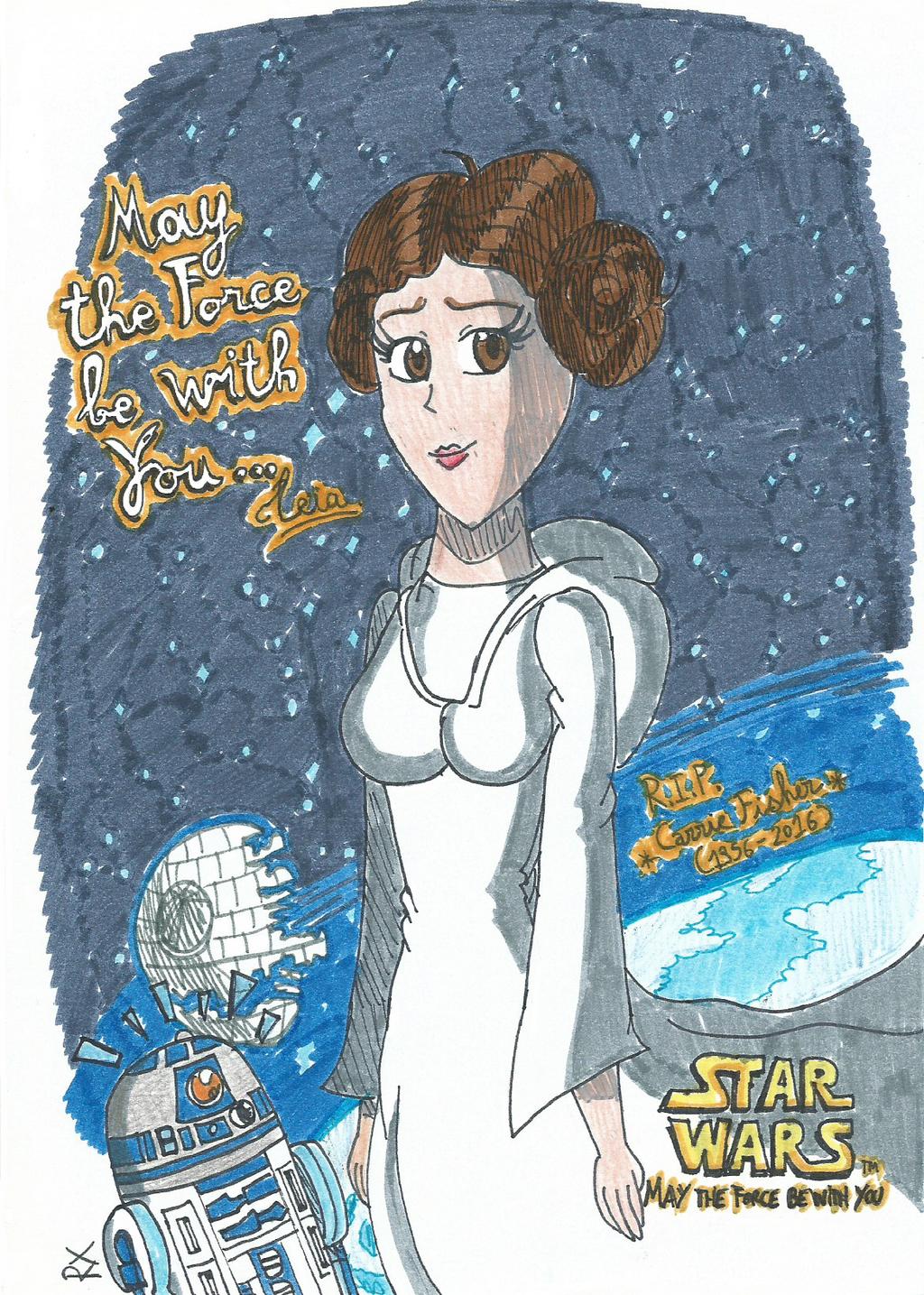 Rest in Peace, Princess Leia (1956-2016) by FelixToonimeFanX360