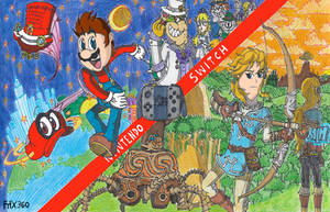 Nintendo Switch: Super Mario Oddysey n' Zelda: BoW by FTFTheAdvanceToonist