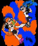 Splatoon: Orange VS Blue