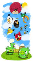 The Flock Comes Here - Angry Birds by FTFTheAdvanceToonist