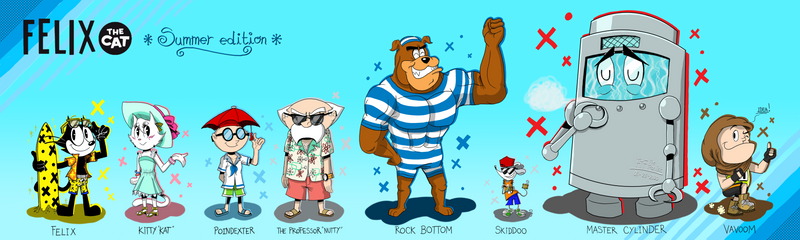 Felix The Cat - Reimaginated Casts in Summer Theme