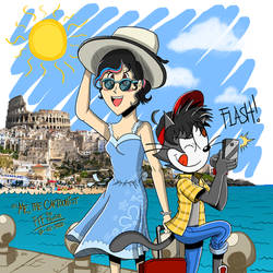 FTF's Summer vacation - FTF and Clare