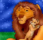 Simba and Kiara - star gazing