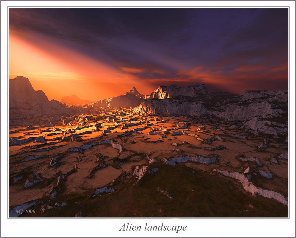 Alien landscape by sandpiper6 on DeviantArt