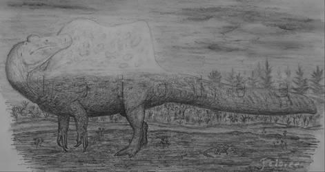 Spinosaurus at sunrise