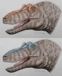 Colored Qianzhousaurus