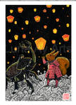 O Guerreiro Esquilo - Noite das lanternas