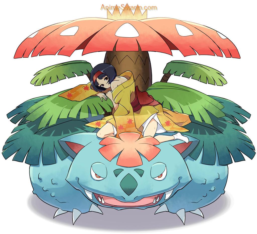 pokemon reddit venusaur and erika by pokemonreddit1 on