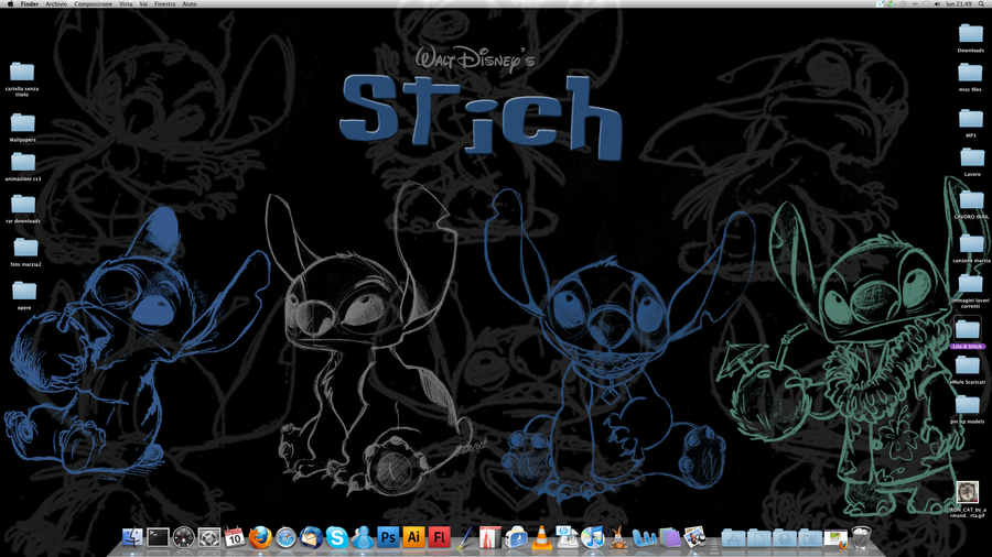 Stitch Wallpaper By VPdessin