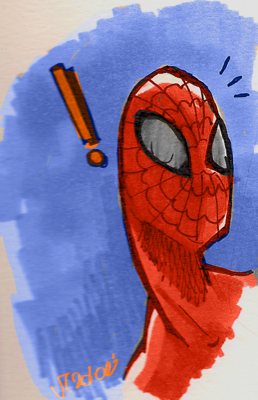 Quick spiderman by VPdessin