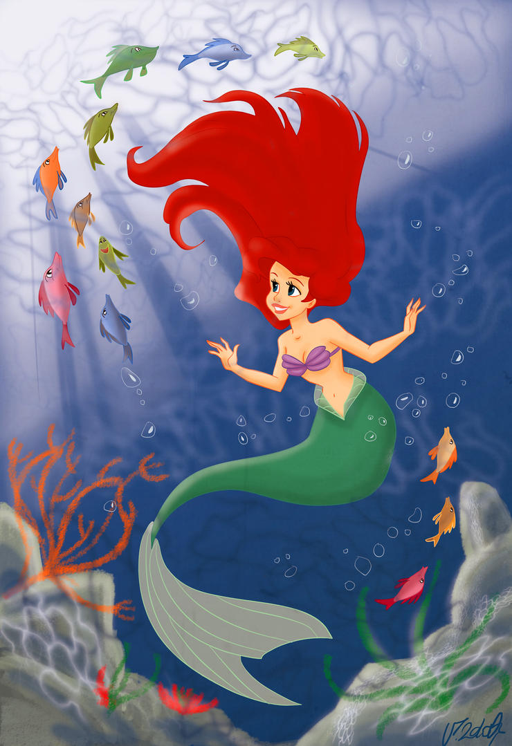 The Little Mermaid by VPdessin on DeviantArt