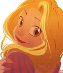 Rapunzel sketch -colored-