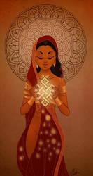 Ushas Goddess by VPdessin