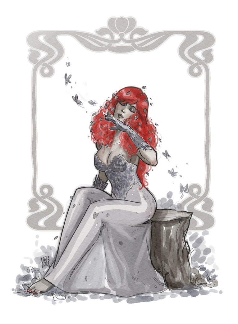 Poison Ivy digital copic by VPdessin