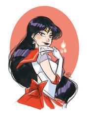 Sailor Mars coloring fast sketch