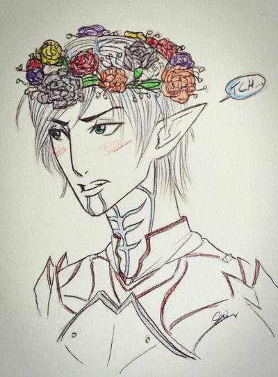 Broody Flower Crown by CamilliaTepes