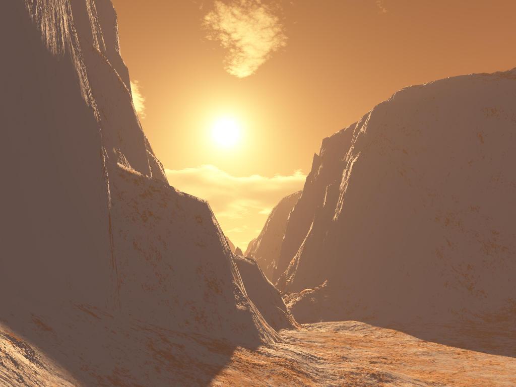 Sunset on mars by sharingan culte on deviantart - Mars sunset wallpaper ...