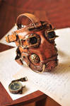Leather steampunk gas mask.