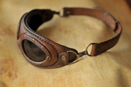Steampunk aviator goggles.