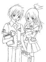 Akatsuki school uniforms X3 by LiaDeBeaumont